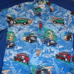 Reyn Spooner Hawaiian Shirt Land Rover Size Large